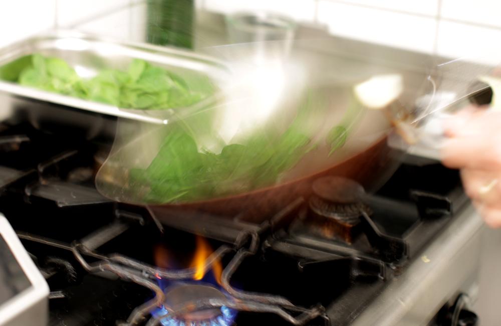 frisch zubereitet in der Kochnische